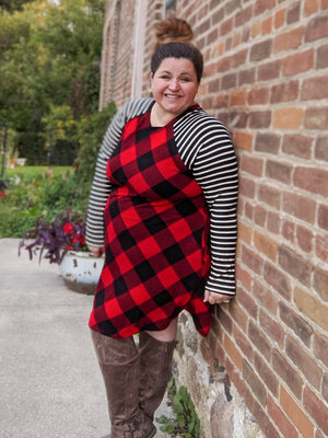 BUFFALO PLAID RAGLAN DRESS