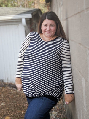 Stripe and Knot Long Sleeve Tee (more colors!) Tops veveret