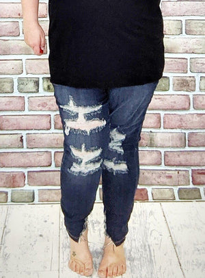 Judy Blue Super Distressed Skinny Jeans Jeans Judy Blue