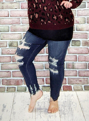 Judy Blue Super Distressed Skinny Jeans