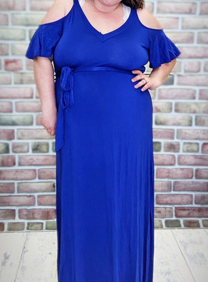 Cold Shoulder Maxi Dress w/Belt (More Colors!) Dresses Stacked Consignment