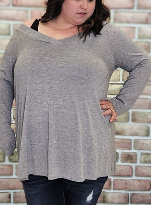 Double Vee Tunic (More Colors!) Tops Stacked Consignment