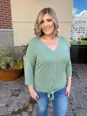 Triple Stretch Button Front Henley (more colors!) Tops Michelle Mae