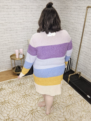 PASTEL CHENILLE SWEATER DRESS Dresses oddi
