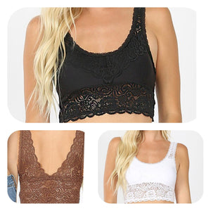 Extended Lace Scoopneck Bralette