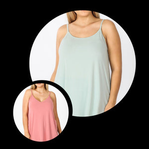 Reversible Solid Cami (More colors!)