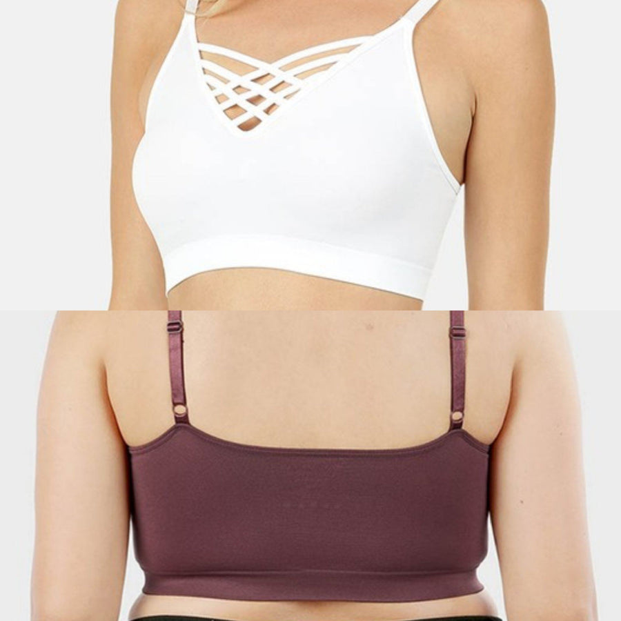 V-Neck Strappy Bralette (no pads)