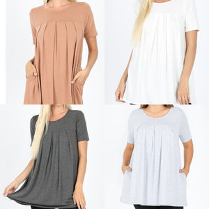 Sweet Pleated Tee (More Colors!)