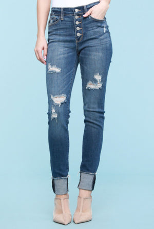 Judy Blue High-rise ButtonFly Skinny Jeans Judy Blue