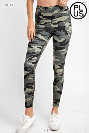 High Waist Printed Boutique Butter Leggings (more colors!) leggings rae mode