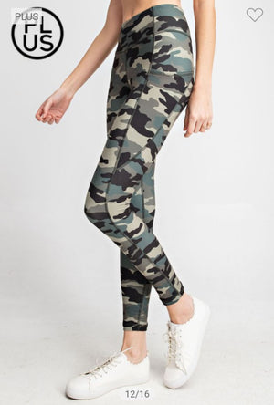 High Waist Camo Side-Pocket Leggings leggings rae mode