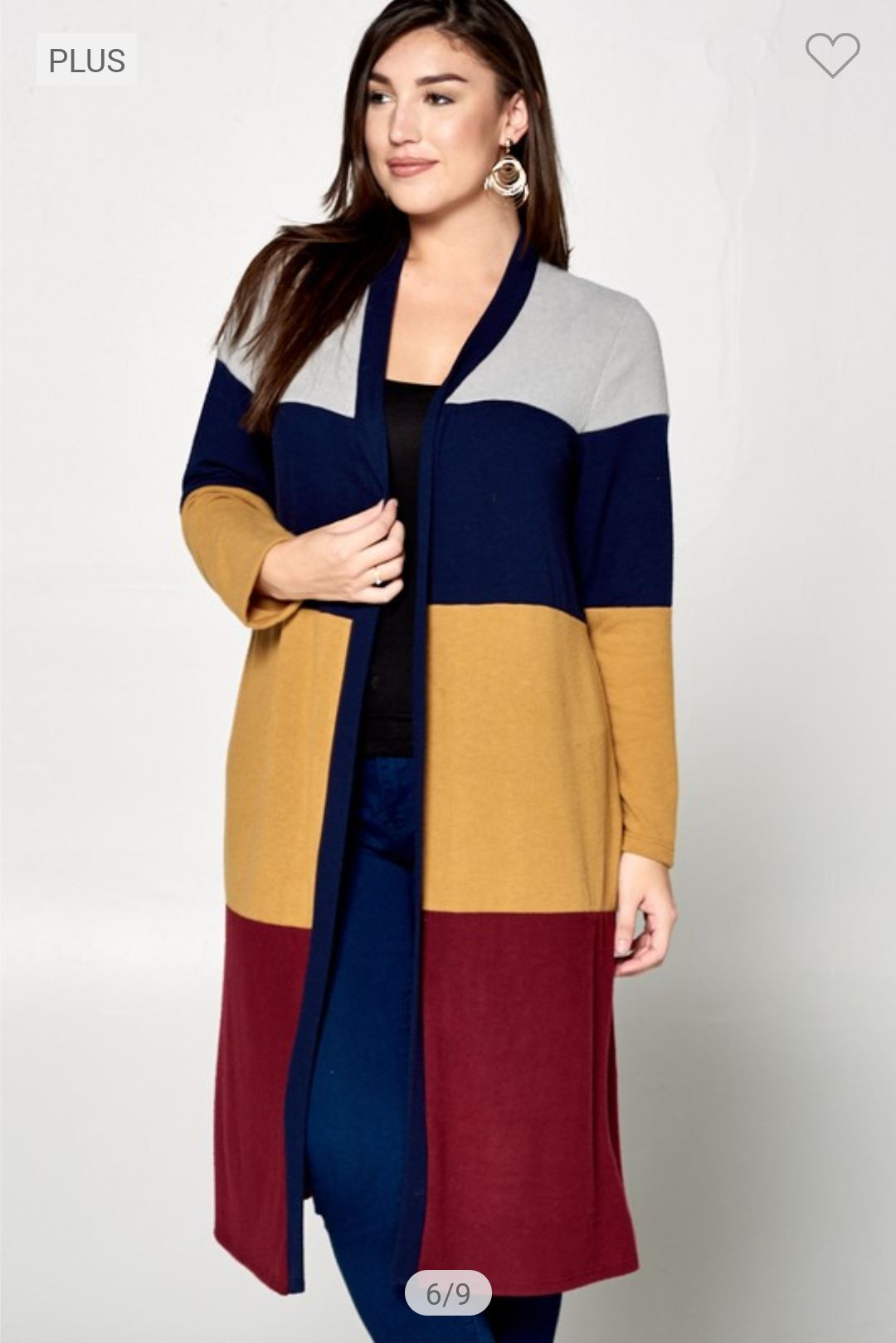 Colorblock Sweater Duster (more colors) Sweaters emerald