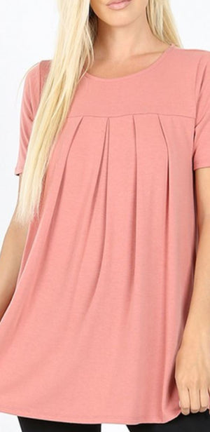 Sweet Pleated Tee (More Colors!) Tops zenana