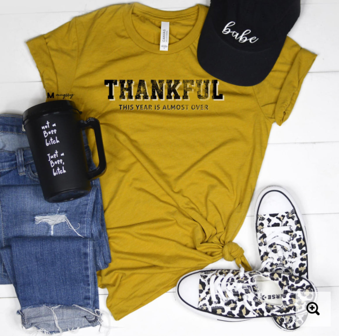 Thankful (kinda) graphic tee Graphic Tees mugsby