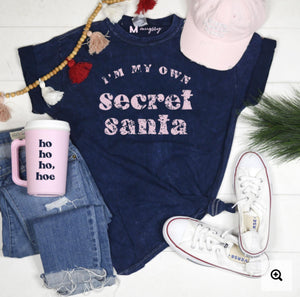 Secret Santa Graphic Tee Graphic Tees mugsby