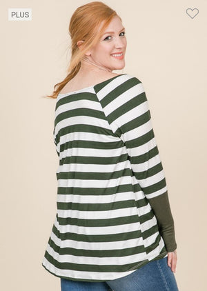 Perfect Holiday Striped Tee w/ Thumbholes Tops reborn j