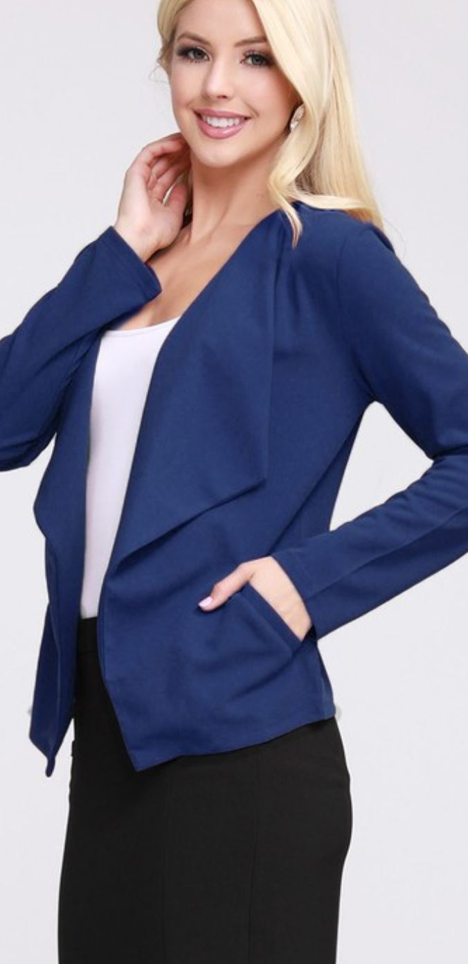 OPEN FRONT STRETCH BLAZER Outerwear ninexis