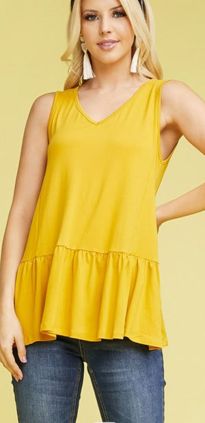 VNECK RUFFLE TANK TOP (MORE COLORS!) tank ninexis