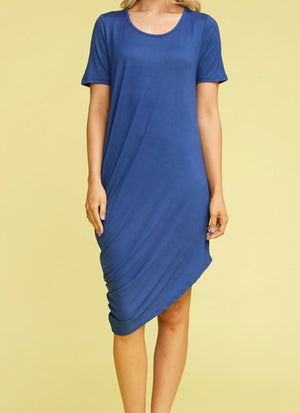 Draped T-Shirt Dress (more colors!) Dresses ninexis