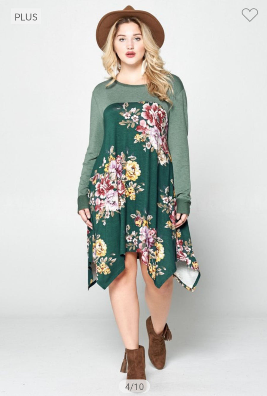 FLORAL HANDKERCHIEF HEM DRESS Dresses oddi
