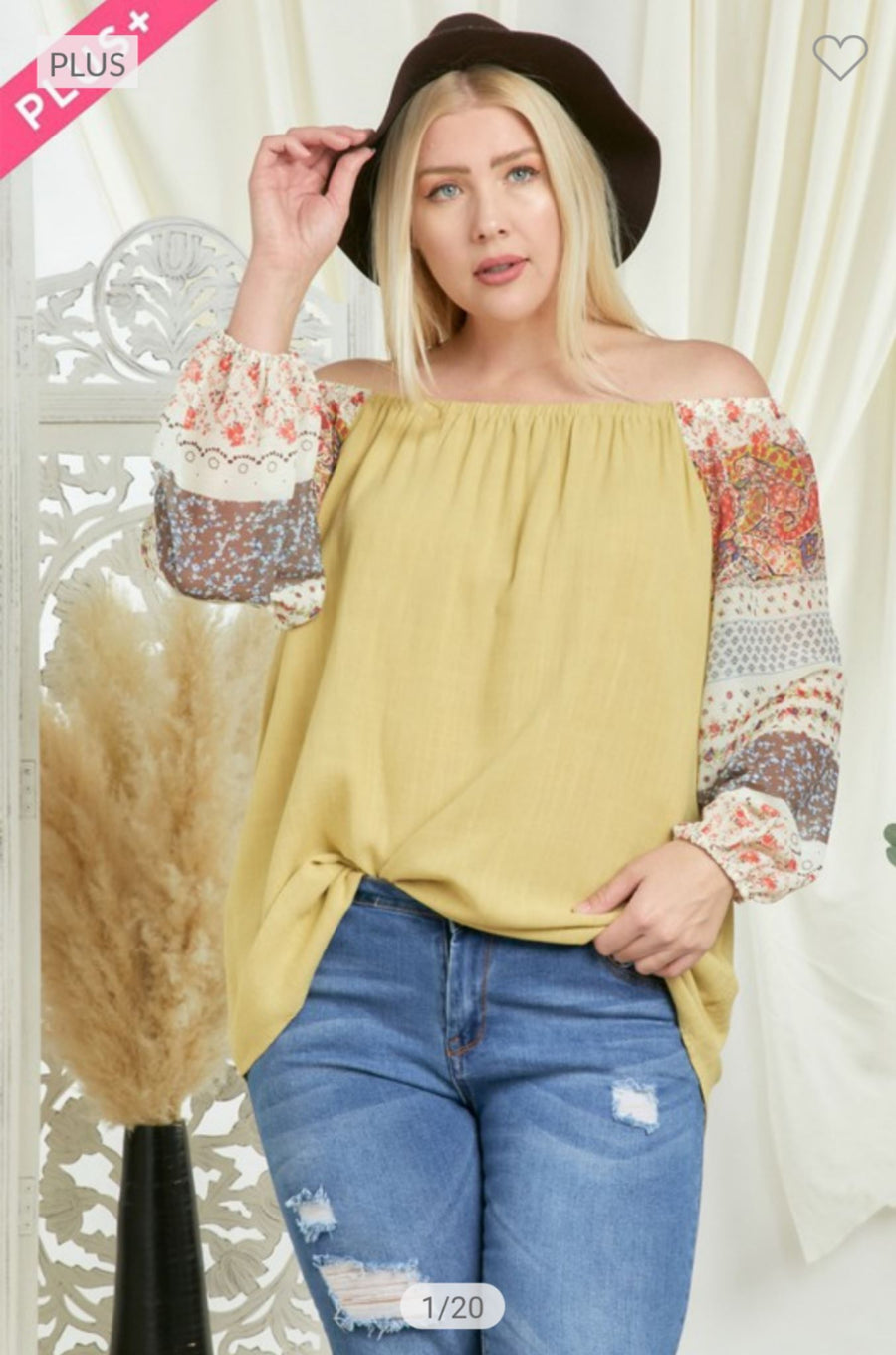CUTE + KIWI FLORAL SLEEVE TOP Tops Davi and Dani
