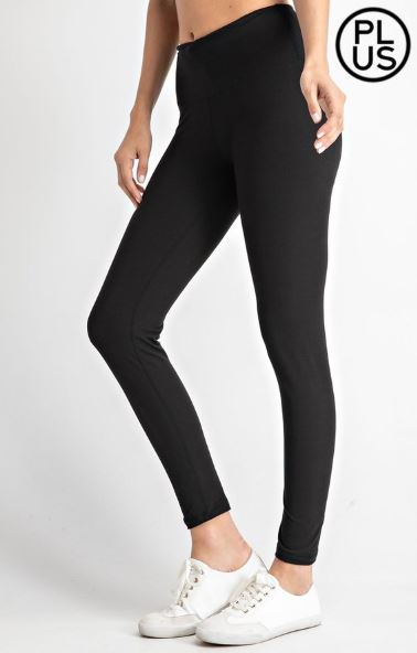 High Waist Boutique Butter Leggings (more colors!) leggings Stacked - Fashion for Curves
