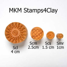 Load image into Gallery viewer, MKM Medium Round Stamp Wild Flower SCM-047