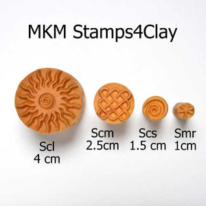 MKM Medium Round Stamp Wild Flower SCM-047