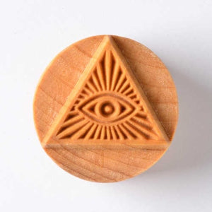 MKM Large Round Stamp Pyramid Eye SCL-016