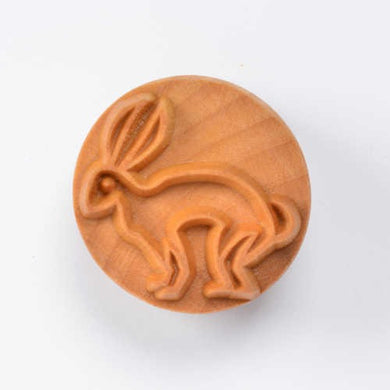 MKM Large Round Stamp Rabbit SCL-041