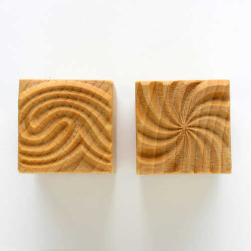 MKM Medium Square Stamp Swirl and Wave Ssm-017