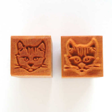 MKM Medium Square Stamp Cat's Head Ssm-146