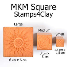 Load image into Gallery viewer, MKM Medium Square Stamp Cat's Head Ssm-146