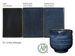 Blue Midnight Potter's Choice Cone 5 Glaze (Pint) Amaco PC-12