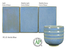 Load image into Gallery viewer, Arctic Blue Potter's Choice Cone 5 Glaze (Pint) Amaco PC-21