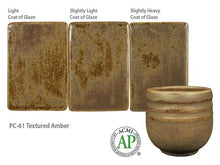 Load image into Gallery viewer, Textured Amber Potter's Choice Cone 5 Glaze (Pint) Amaco PC-61