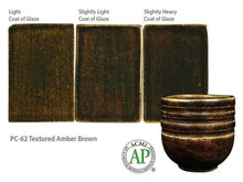 Load image into Gallery viewer, Textured Amber Brown Potter's Choice (Pint) Amaco PC-62