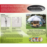 The Observatory Dome Bird Feeder