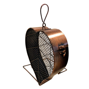 Copper Leaf Bird Feeder