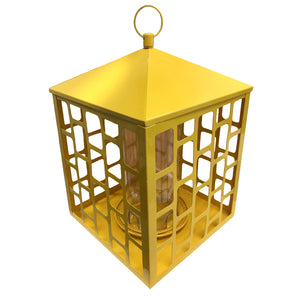 Square Yellow Squirrel-resistant Feeder