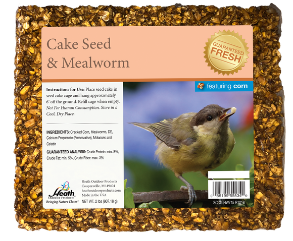Mealworm Seed Cake with Corn - 2 lb - 8 pack