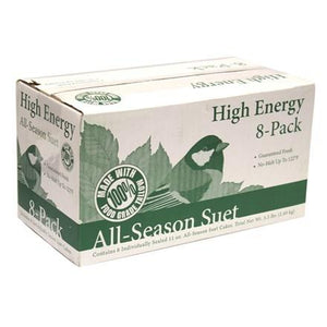 Bird's Blend High Energy Suet Cakes - 8 Pack - Heathoutdoors