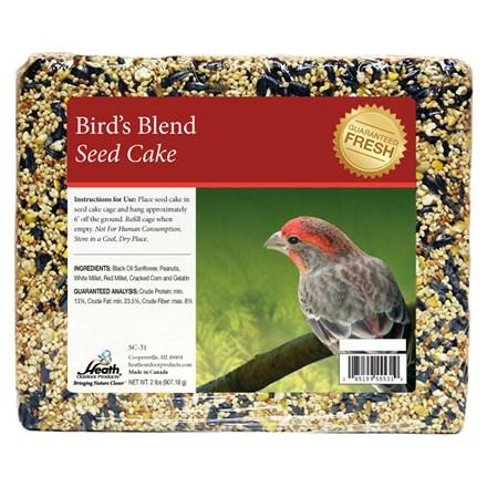 Bird's Blend Seed Cake - 2 lb - 8 pack - Heathoutdoors