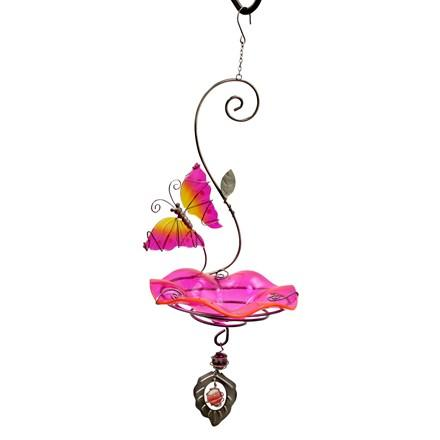 Butterfly Bliss Bird Feeder - Pink - Heathoutdoors