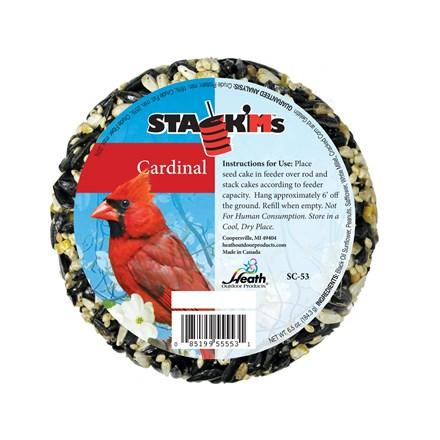 Cardinal Stack'Ms Seed Cake - 6.5 oz - Pack of 6 - Heathoutdoors