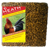 Chicken Snack Premium Mealworm Seed Cake with Corn - 7 oz - Pack of 12 - Heathoutdoors