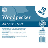 Woodpecker Suet Cakes - 10 Pack