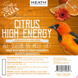 Citrus High Energy Premium Crafted Suet Cake - 11.75 oz. 12 pack