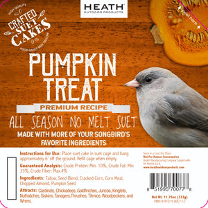 Pumpkin Treat Premium Crafted Suet Cake - 11.75 oz. 12 pack