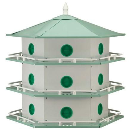 Deluxe aluminum Purple Martin House - 18 Room - Heathoutdoors